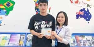 Lê Anh Tuấn nhận Visa du học Hà Lan