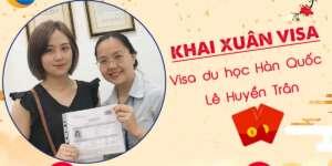 Chúc mừng Visa du học Hàn Quốc Lê Huyền Trần