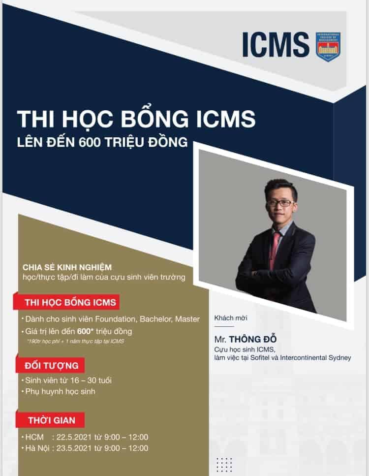 Thi học bổng của trường ICMS, Úc
