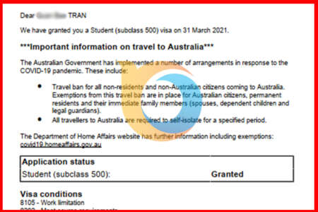 Chúc mừng Visa du học Úc cập bến New Ocean
